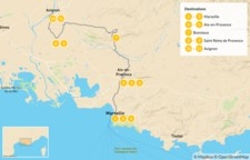 Map thumbnail of France Road Trip: Ultimate Self-Drive Tour of Provence - 12 Days