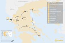 Map thumbnail of Enchanting Northern Greece and Corfu - 11 Days