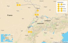 Map thumbnail of Highlights of Eastern France: Reims, Strasbourg, Colmar, & Annecy - 8 Days