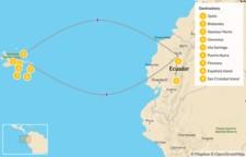 Map thumbnail of Explore Ecuador: Quito & Galapagos Islands Cruise - 10 Days