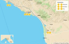 Map thumbnail of Cinque Terre and the Italian Riviera - 8 Days