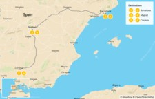 Map thumbnail of Ultimate Food, Culture & Wine Tour of Spain - 7 days
