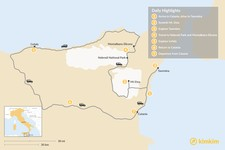 Map thumbnail of 7 Days in Sicily: Mount Etna, the Ionian Coast, and Cefalú