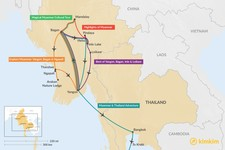 Map thumbnail of 10 Days in Myanmar - 5 Unique Itinerary Ideas
