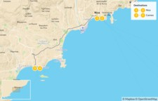 Map thumbnail of Highlights of the French Riviera: Nice & Cannes - 5 Days