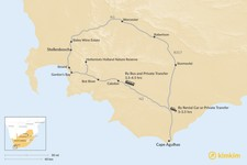 Map thumbnail of How to Get from Stellenbosch to Cape Agulhas
