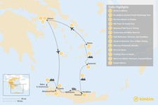 Map thumbnail of History, Culture, and Islands: Athens, Crete, & the Cyclades - 13 Days