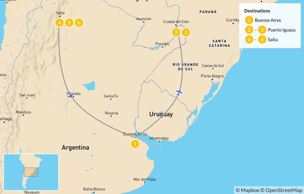 Map of Discovering Northern Argentina - 7 Days