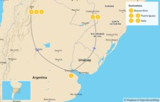 Map thumbnail of Discovering Northern Argentina - 7 Days