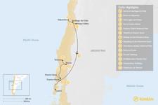 Map thumbnail of Exploring Santiago & Chile's Lake District - 14 Days