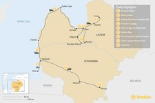 Map thumbnail of Nature & History in the Baltics - 9 Days