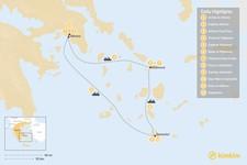 Map thumbnail of Greek Hotspots in Athens, Mykonos & Santorini  - 12 Days
