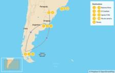 Map thumbnail of Highlights of Argentina & Rio de Janeiro - 12 Days