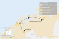 Map thumbnail of Tromsø & Alta Winter Adventure - 8 Days