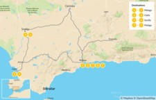 Map thumbnail of Magic of Southern Spain: History, Beaches, & Culture - 10 Days