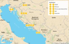 Map thumbnail of Discover Croatia: Zagreb, Istria, Plitvice, & Dalmatia - 14 Days