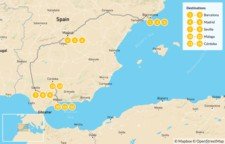 Map thumbnail of Ultimate Food, Culture & Wine Tour of Spain - 15 days
