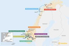 Map thumbnail of 8 Days in Norway - 8 Unique Itinerary Ideas
