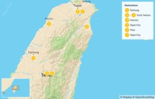 Map thumbnail of Family Holiday Package in Taiwan - 7 Days