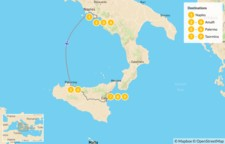 Map thumbnail of Naples, Amalfi Coast, & Sicily - 10 Days