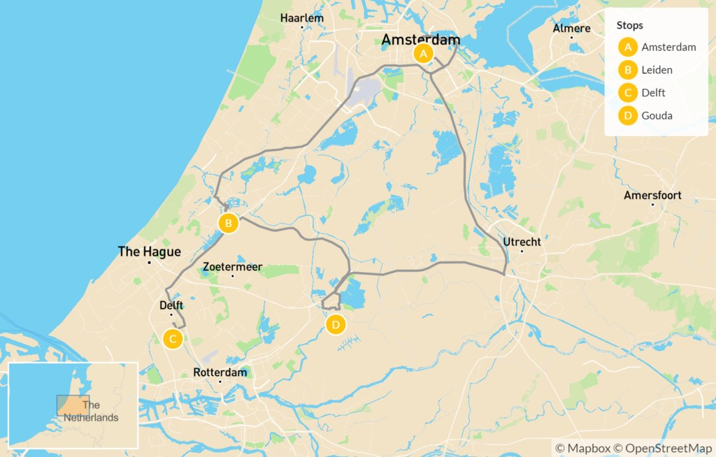 Map of Highlights of Holland - 5 Days