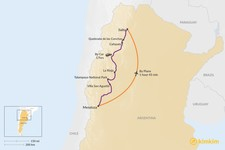 Map thumbnail of How to Get from Mendoza to Salta