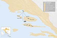 Map thumbnail of Cycling Croatia's Dalmatian Coast: Split, Brač, Hvar – 5 Days