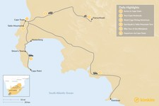 Map thumbnail of South Africa Adventure: Cape Town & Winelands - 6 Days
