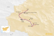 Map thumbnail of How to Get from Bovec to Kobarid