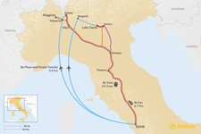 Map thumbnail of How to Get from Rome to Lakes District