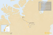 Map thumbnail of Norway Dogsledding Adventure - 5 Days