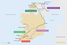Map thumbnail of 5 Days in Ireland - 5 Unique Itinerary Ideas