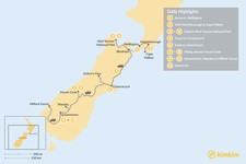 Map thumbnail of New Zealand Cities, Parks & Mountains - 12 Days