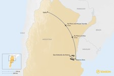 Map thumbnail of How to Get from Salta to San Antonio de Areco