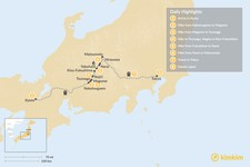 Map thumbnail of Winter on the Nakasendo Trail: Kyoto, Kiso Valley & Tokyo - 8 Days