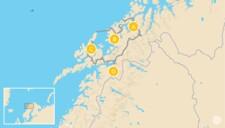 Map thumbnail of Arctic Norway Summer Road Trip: Tromsø, Senja, Vesterålen & Narvik  - 10 Days