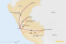 Map thumbnail of How to Get from Lima to the Peruvian Amazon