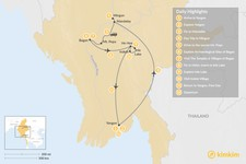 Map thumbnail of The Culture & Heritage of Myanmar - 12 Days