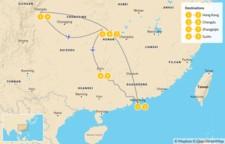 Map thumbnail of Essential China: Hong Kong, Chengdu, Zhangjiajie, & Guilin - 10 Days