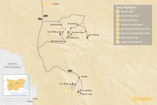 Map thumbnail of Hiking Bulgaria's Peaks - 8 Days