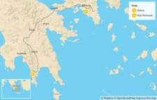 Map thumbnail of Greek Culture & Adventure for Families: Athens & the Peloponnese - 7 Days