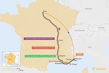 Map thumbnail of Nice & Paris: Best Itinerary Ideas