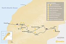 Map thumbnail of Marrakech, Grand Desert Tour, Hiking & the Coast - 10 Days