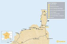Map thumbnail of Cycle the Cape of Corsica to the Castagniccia - 8 Days
