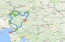 Map thumbnail of Hiking and Fly Fishing in Slovenia – 15 Days