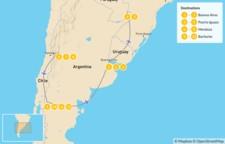Map thumbnail of Buenos Aires, Iguazú Falls, Mendoza, & Bariloche - 13 Days