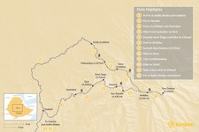 Map thumbnail of Climb Ras Dashen, Ethiopia's Highest Peak - 12 Days