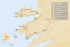 Map thumbnail of Kingdom of Kerry Guided Hike - 8 Days