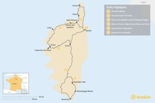 Map thumbnail of Motorbike Tour of Corsica: 6 Day Itinerary