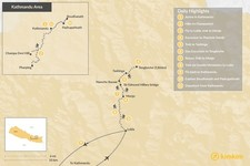 Map thumbnail of Classic Everest Region Trek  - 11 Days